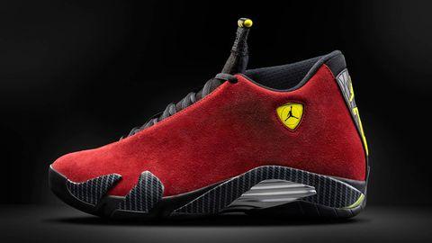 6e0fa3c94050 Air Jordan 14 Red Suede - Ferrari-inspired Air Jordan Basketball Shoes