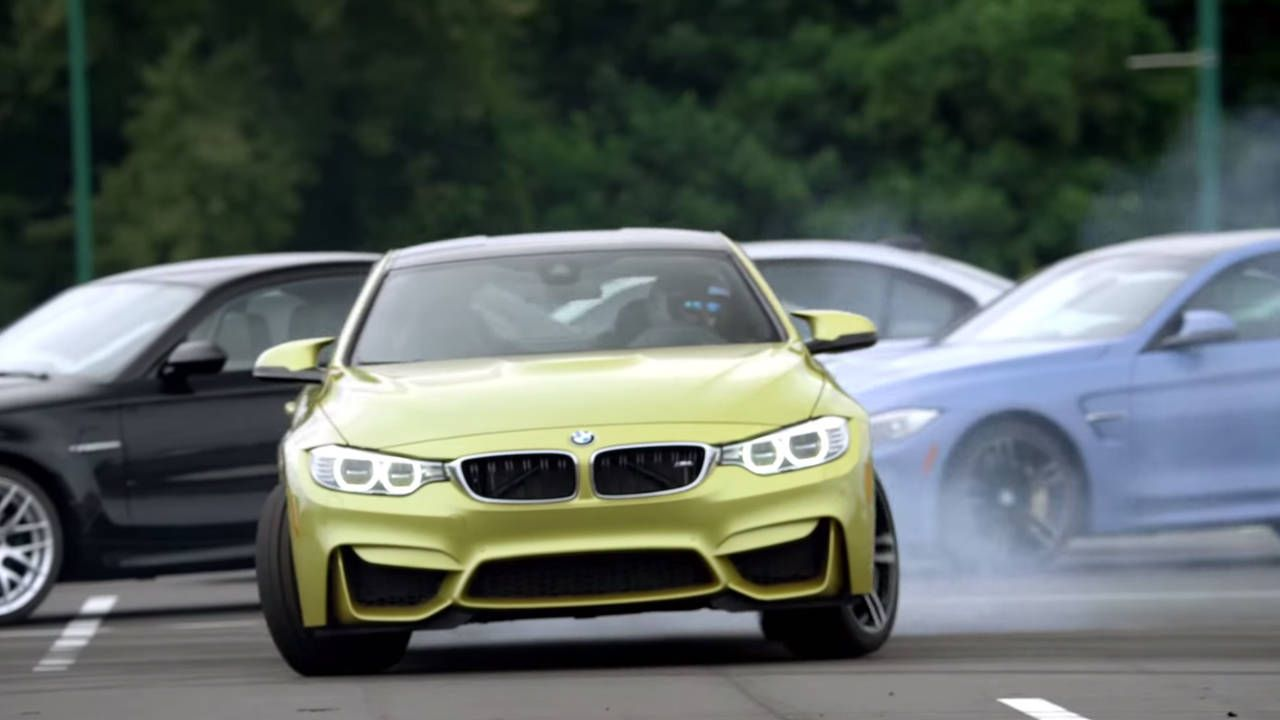 Watch a BMW M4 drift around 37 M siblings