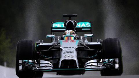 Automotive tire, Automotive design, Open-wheel car, Automotive exterior, Formula one car, Formula one tyres, Automotive wheel system, Car, Formula one, Motorsport,
