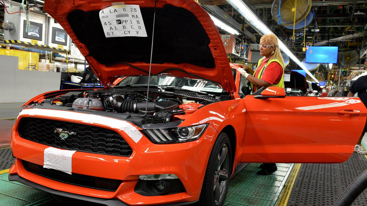 The 2015 Ford Mustang line is fully operational