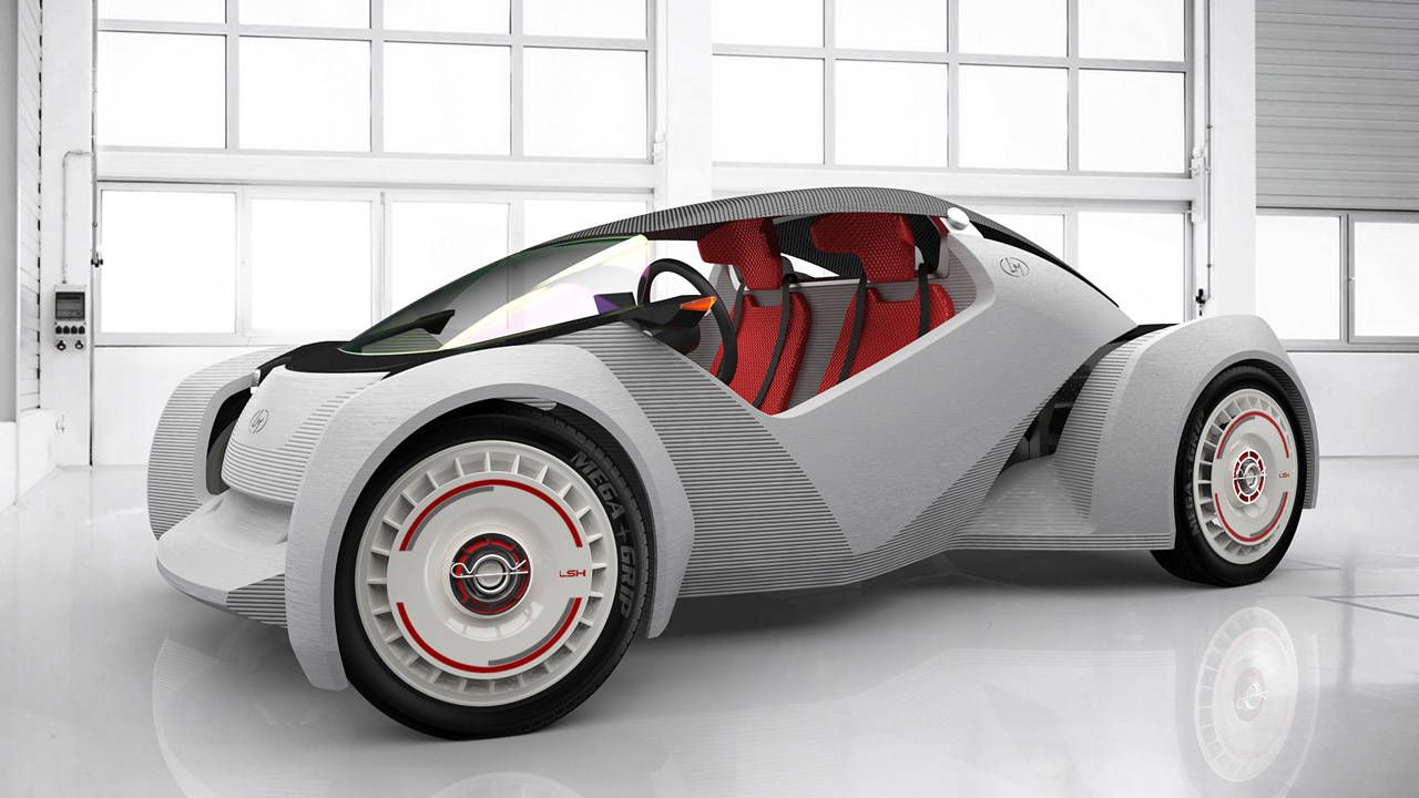 Local Motors is 3D printing a car right now