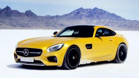 Tire, Mode of transport, Automotive design, Yellow, Vehicle, Mountainous landforms, Hood, Mountain range, Car, Headlamp,