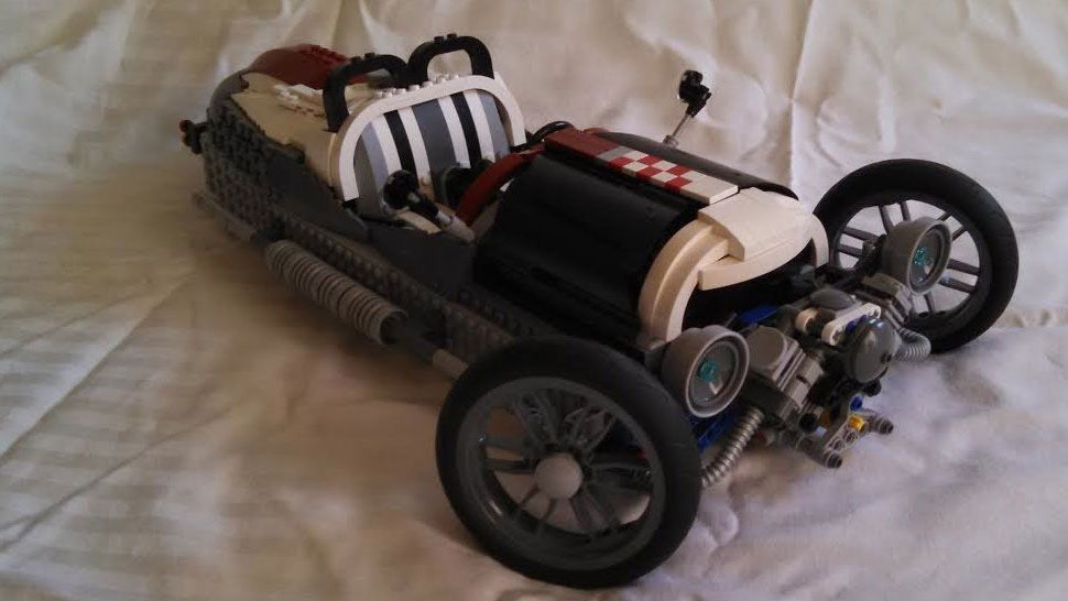 dad builds kids a perfect lego morgan 3 wheeler note perfect model should be a kit
