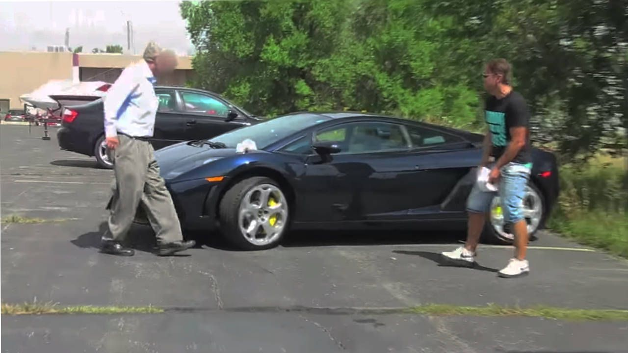 Czech pranksters learn to not screw with someone's Lamborghini