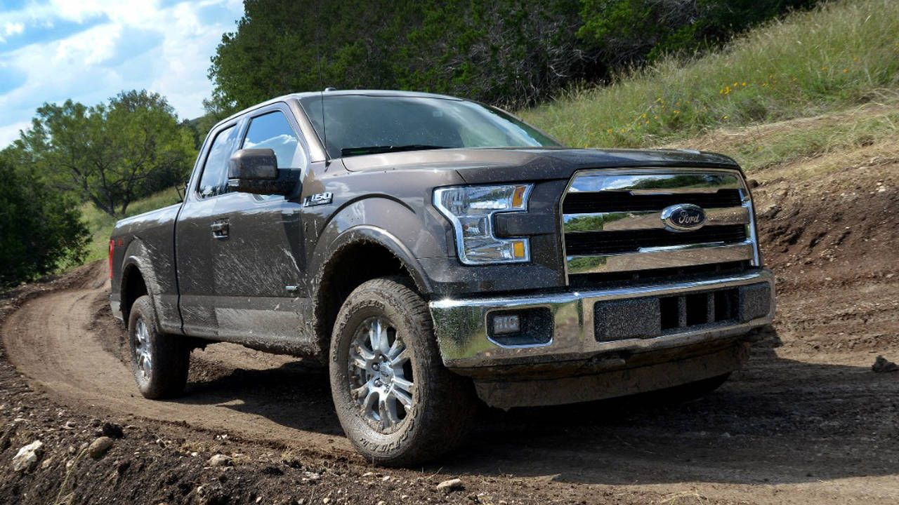 12 things i learned nerding out over the 2015 ford f 150 2015 Ford 5.0 Liter Engine with an extra large opening between the bottom two spokes, big enough to fit a gloved 95th percentile hand fine, people drive like that, 2015 Ford F-150 Silver