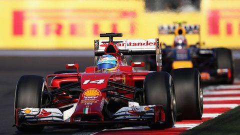 Automotive tire, Automotive design, Open-wheel car, Vehicle, Automotive exterior, Car, Formula one tyres, Motorsport, Formula one car, Racing,