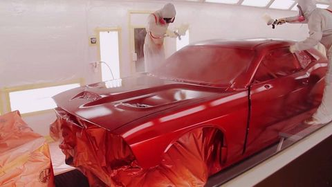 Automotive design, Red, Car, Vehicle door, Fender, Hood, Ceiling, Windshield, Automotive tail & brake light, Personal luxury car,