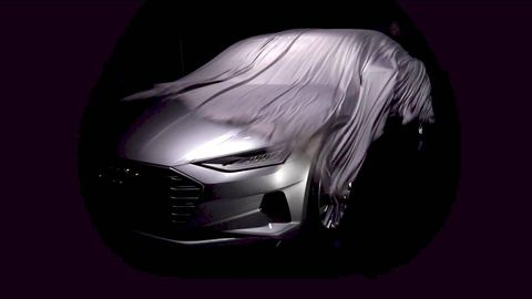 Automotive design, Grille, Headlamp, Automotive lighting, Luxury vehicle, Black, Concept car, Darkness, Violet, Automotive light bulb,