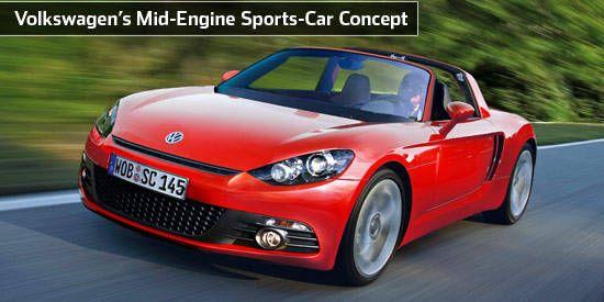 volkswagen's mid-engine sports-car concept