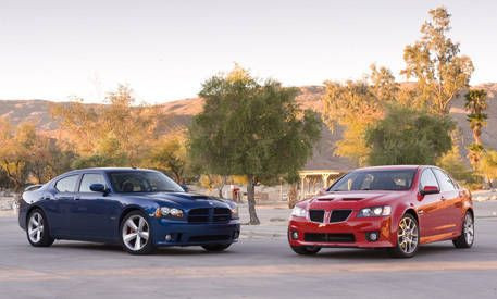2009 Dodge Charger SRT8 vs 2009 Pontiac G8 GXP  Comparison Test