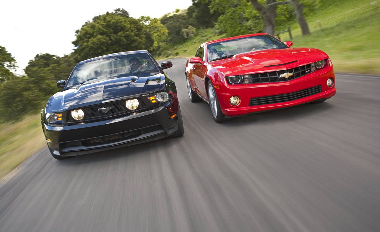 2010 Chevrolet Camaro SS vs  2011 Ford Mustang GT