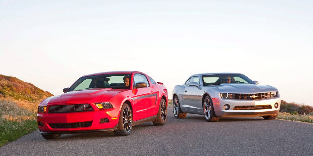 Complete Comparison Test Of The Chevrolet Camaro V 6 And The Ford