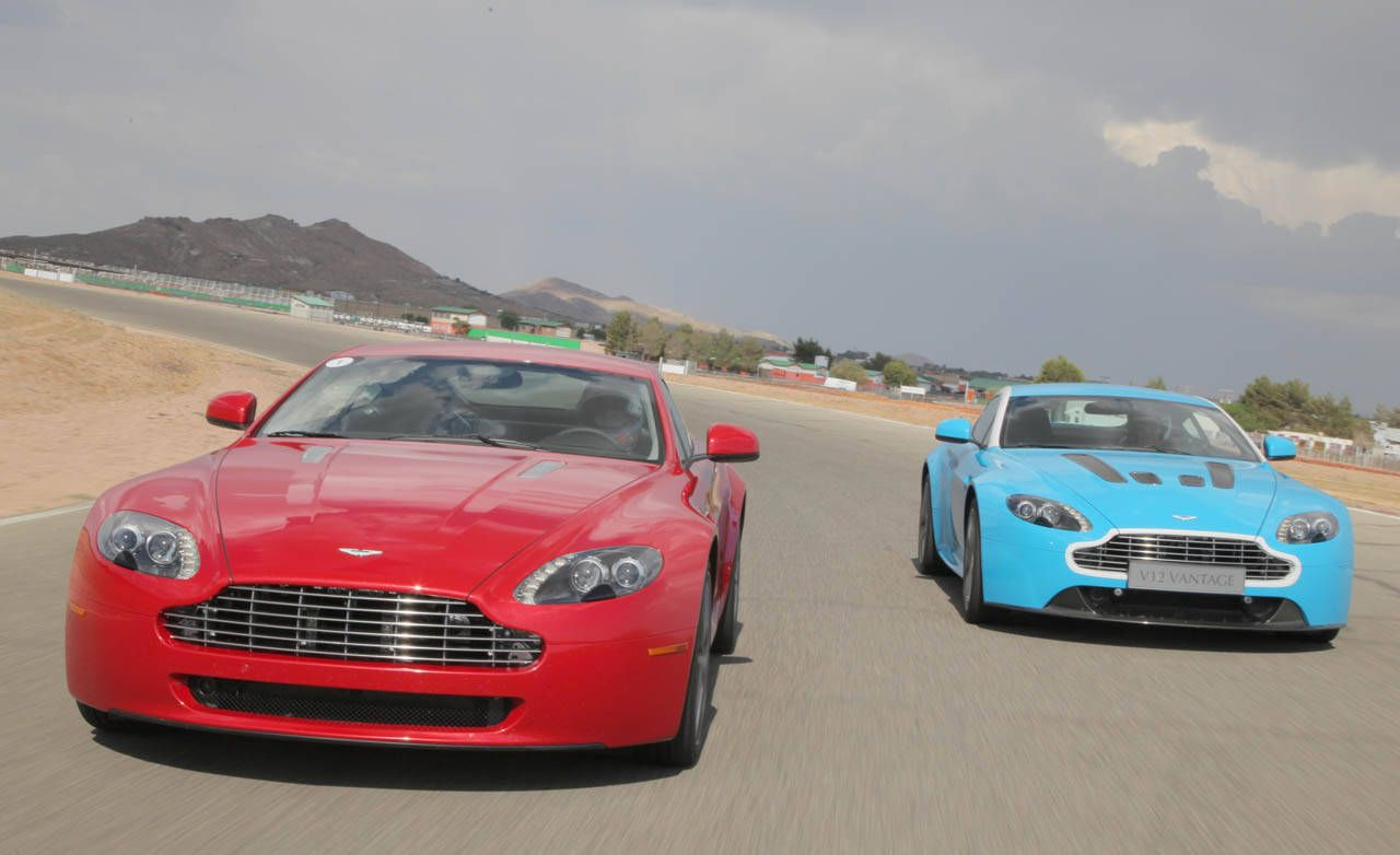 Complete Comparison Test Of The Aston Martin V 8 Vantage And The V 12 Vantage View Photos And Data Specs Of The Aston Martin V 8 Vantage And V 12 Vantage