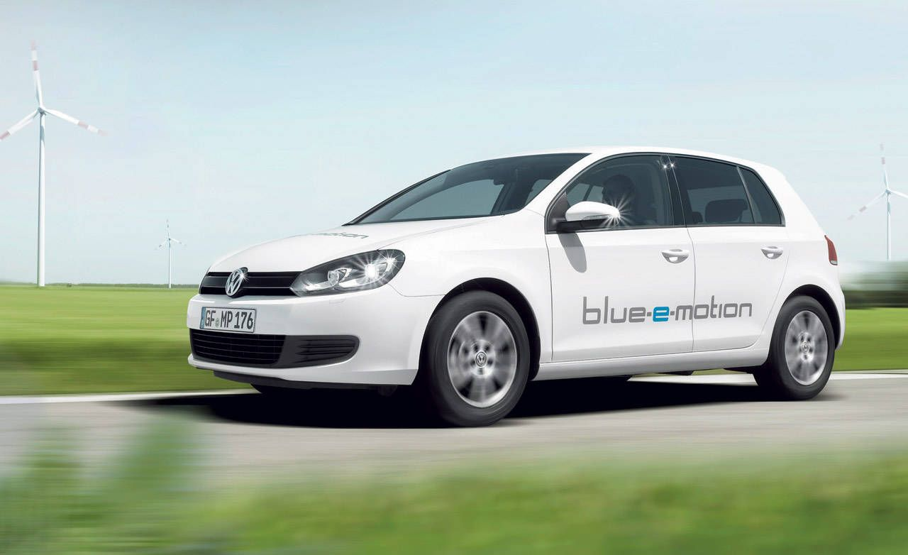 New Future Car - Volkswagen Golf blue-e-motion Photos and News