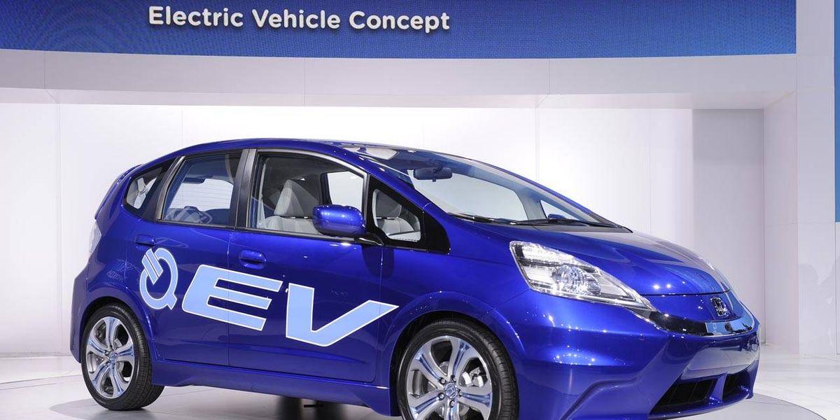 2012 Honda Fit Ev New Honda Electric Car At The La Auto Show