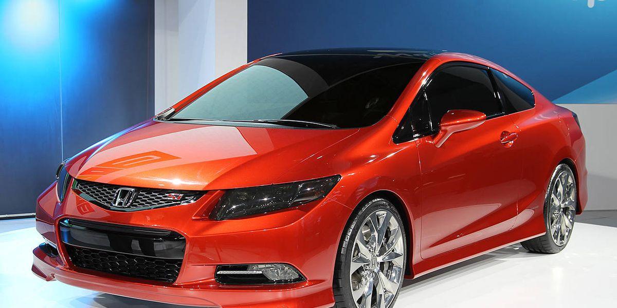 Honda Civic New Civic At Detroit Auto Show - Honda center car show