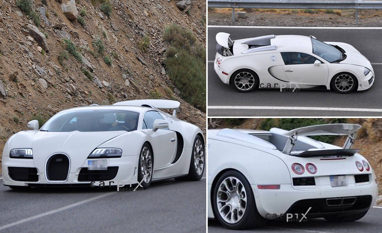 bugatti veyron grand sport super sport first photos