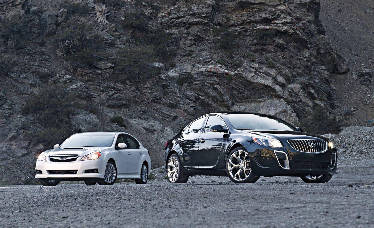 buick regal gs vs. subaru legacy comparison test – roadandtrack