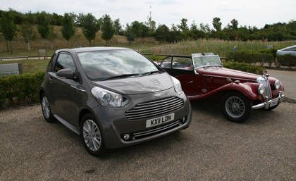 2012 Aston Martin Cygnet Next To Our 1954 MG TF.