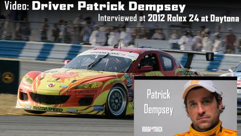 Exclusive Video Of Patrick Dempsey Interview At 2012 Rolex 24