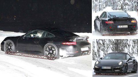 2014 Porsche 911 Gt3 2013 Porsche 911 Turbo Coupe And Cabriolet Spy