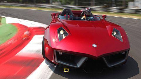 Automotive design, Mode of transport, Vehicle, Red, Hood, Car, Automotive exterior, Sports car, Performance car, Supercar,
