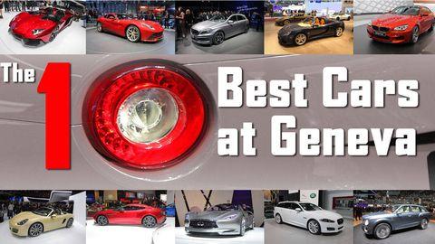 10 best cars at geneva