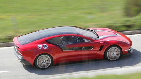 Exclusive 2012 Giugiaro Brivido Concept Car Street Drive