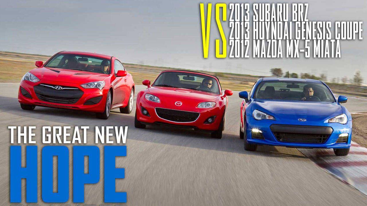 RearDrive Sports Coupes Under 30K Test  Mazda Miata vs Subaru