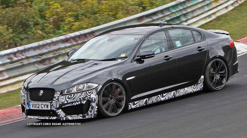 2013 Jaguar Xfr S Sport Sedan Spy Photos Jag Xfr S Caught Testing