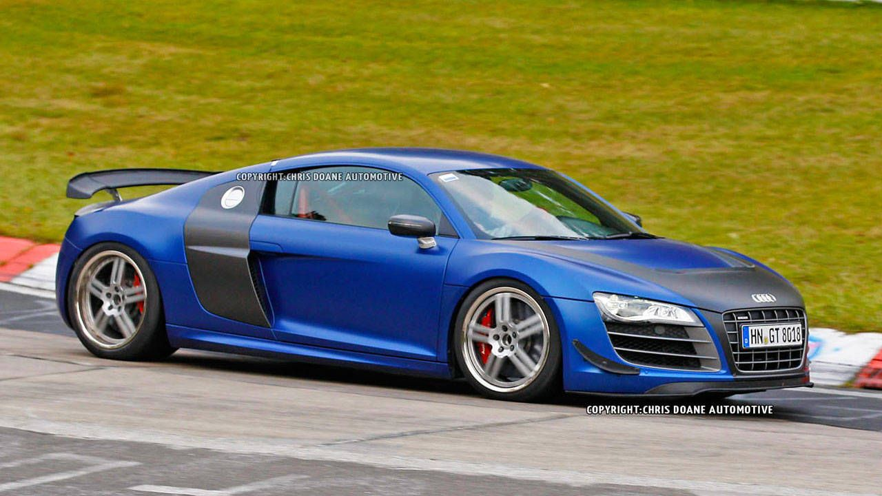 2013 audi r8 gt photos – new r8 gt caught track testing in germany