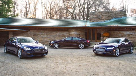 Audi S Vs BMW I XDrive Gran Coupe Vs Mercedes - Audi s7 vs bmw 650i gran coupe