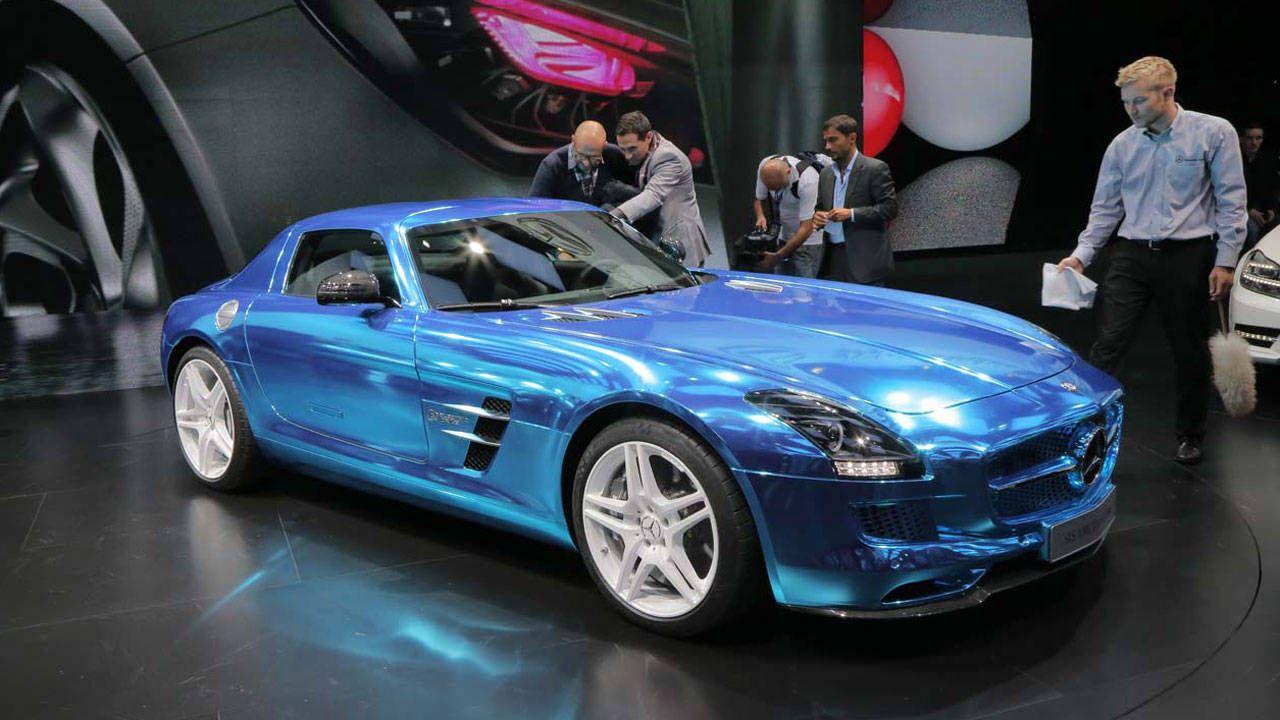 Mazda 3 Blue >> Mercedes-Benz SLS AMG Coupe Electric Drive Photos and News – 2012 Paris Auto Show – Electric SLS ...