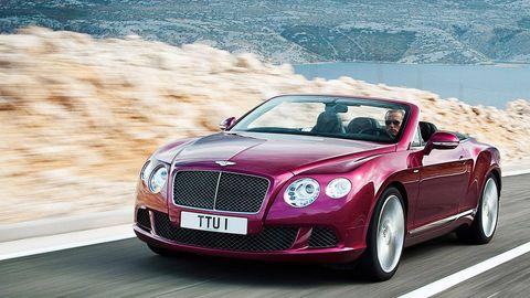 2013 Bentley Continental Gt Speed Convertible Breaks Cover