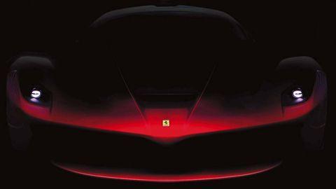 Automotive design, Automotive exterior, Automotive lighting, Red, Concept car, Supercar, Light, Darkness, Carmine, Luxury vehicle,