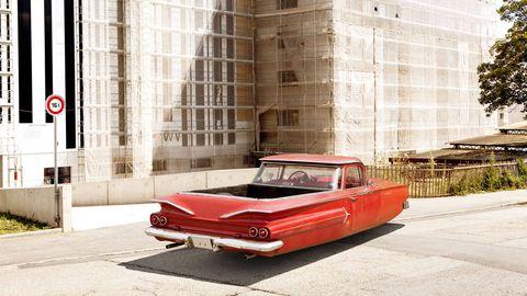 Automotive design, Vehicle, Classic car, Car, Automotive exterior, Wall, Classic, Automotive lighting, Personal luxury car, Vehicle door,
