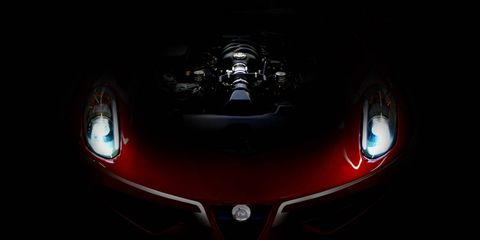 Red, Darkness, Light, Automotive lighting, Maroon, Fictional character, Graphics, Reflection, Symbol, Supercar,