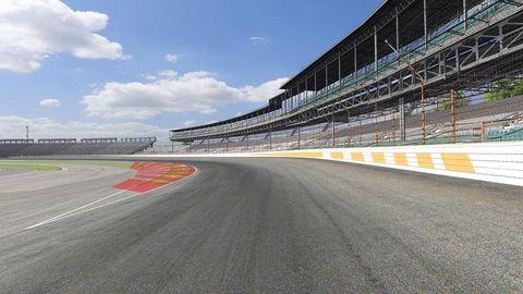 Grass, Sport venue, Road, Infrastructure, Road surface, Asphalt, Race track, Plain, Parallel, Composite material,