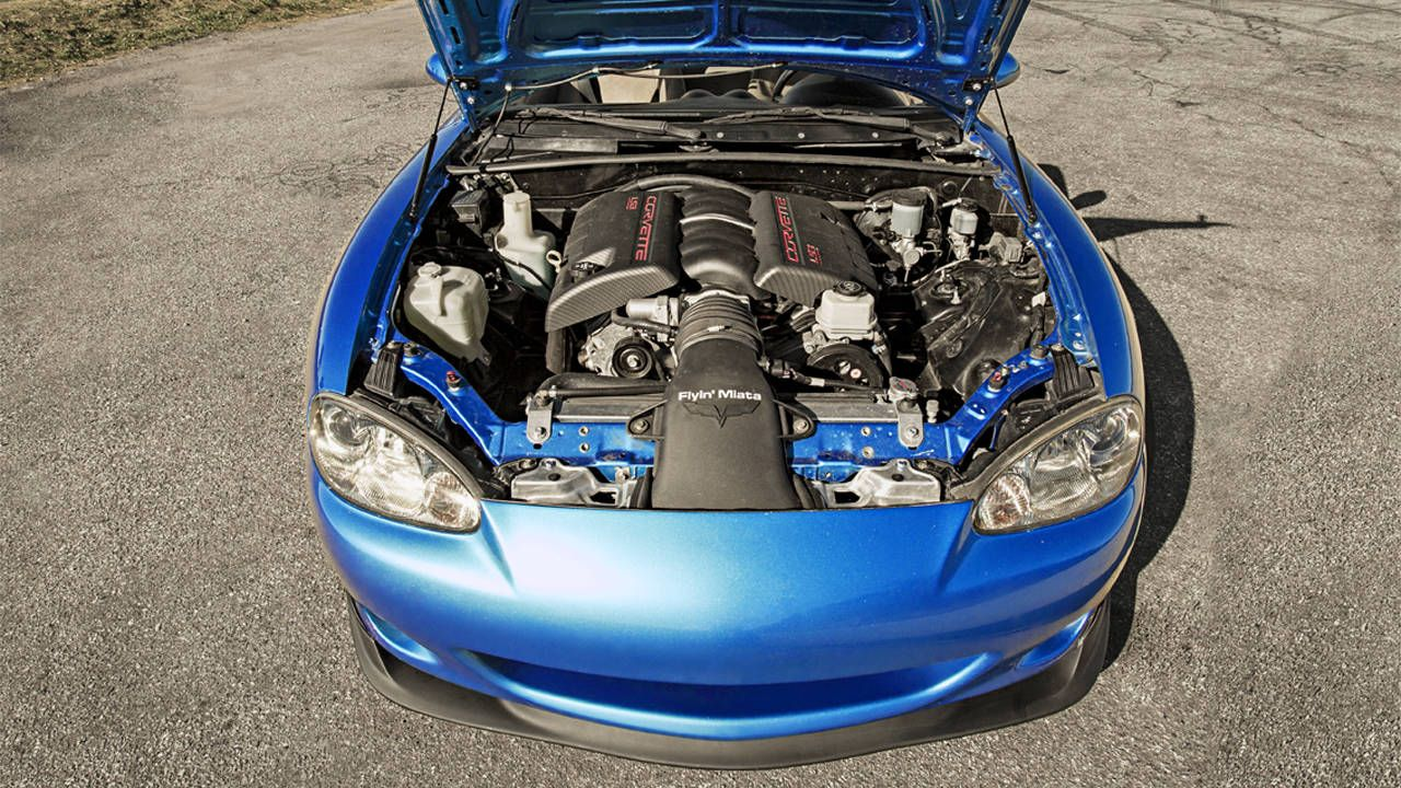 Flyin Miata Mazda MX-5 V8 - A V8 Powered Miata is a Small Viper