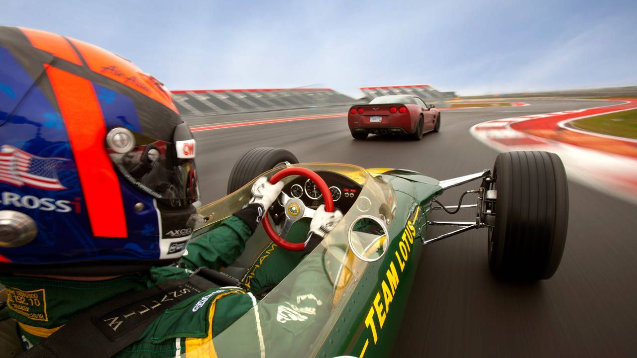 1967 Lotus 49 vs 2013 Corvette ZR1 at COTA - Alexander Rossi US F1 ...