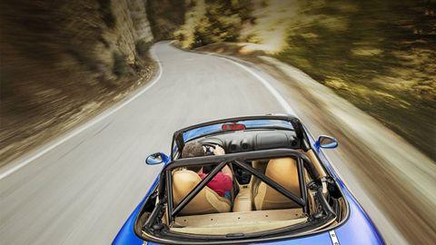 Mode of transport, Automotive design, Road, Car, Road surface, Asphalt, Automotive mirror, Performance car, Hood, Classic car,