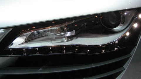 Automotive design, Automotive exterior, Automotive lighting, Headlamp, Automotive parking light, Grille, Bumper, Light, Personal luxury car, Luxury vehicle,