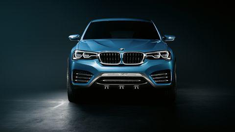Automotive design, Blue, Automotive exterior, Hood, Grille, Automotive lighting, Car, Auto part, Luxury vehicle, Light,