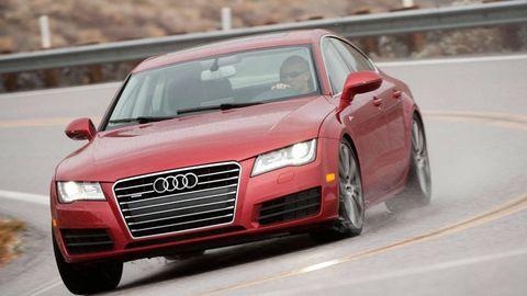 Automotive design, Vehicle, Land vehicle, Transport, Car, Grille, Red, Hood, Automotive tire, Fender,