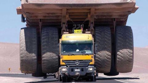 How do you transport a giant, 240-ton mining truck?
