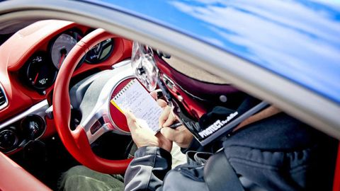 Motor vehicle, Automotive design, Steering part, Steering wheel, Gauge, Denim, Carmine, Speedometer, Tachometer, Driving,