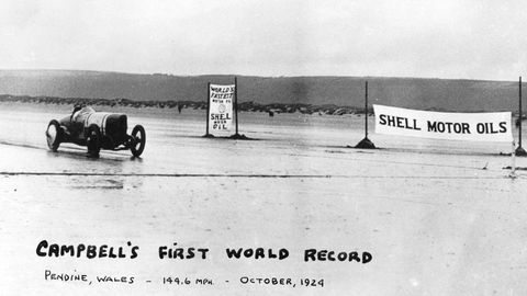 Malcolm Campbell, flathead Fords, and the rebirth of Pendine Sands