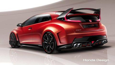 Automotive design, Vehicle, Automotive exterior, Car, Red, Alloy wheel, Fender, Rim, Vehicle door, Concept car,