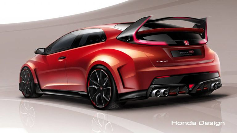 Honda civic type r concept 2014 geneva motor show honda has a long history of bringing thinly veiled production models to auto shows as concepts the latest of those is the machine you see above the civic sciox Choice Image