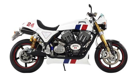 The Hesketh 24 is a 1950cc tribute to James Hunt